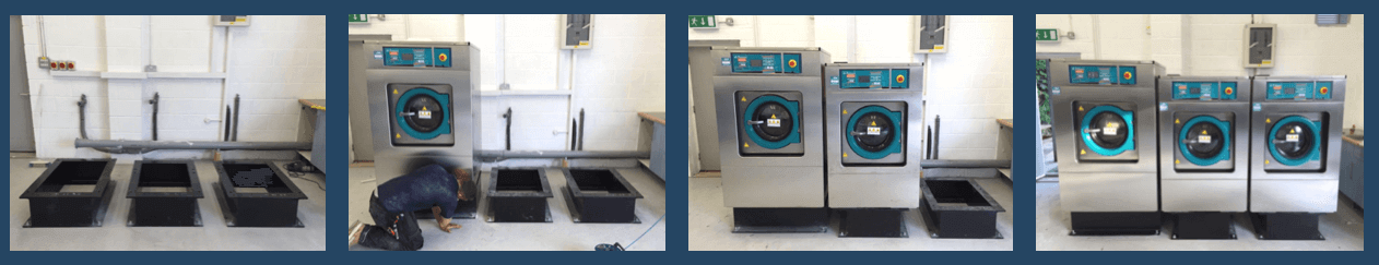 fitting a commercial washing machine for business