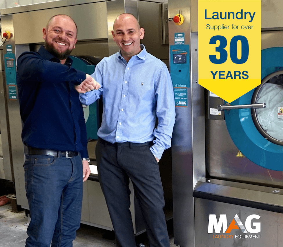 laundry equipment commercial with 30 years experiance